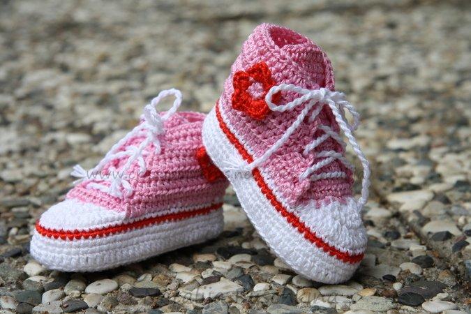 Baby Chucks Häkeln Baby Schuhe Häkeln