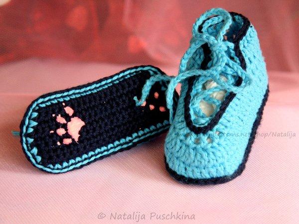 Babyschuhe häkeln - kostenlose Häkelanleitung für Babyschuhe ...