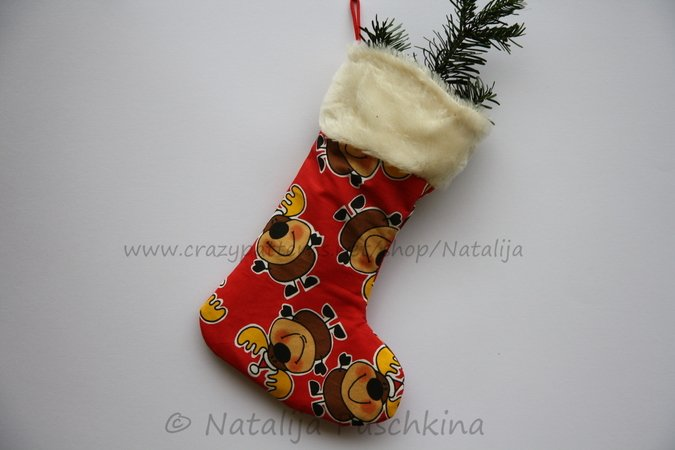 Funky Christmas Stocking Pattern - 2 Size and 2 d