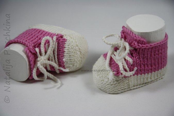 Strickanleitung Babyschuhe für Anfänger bei Crazypatterns ♥