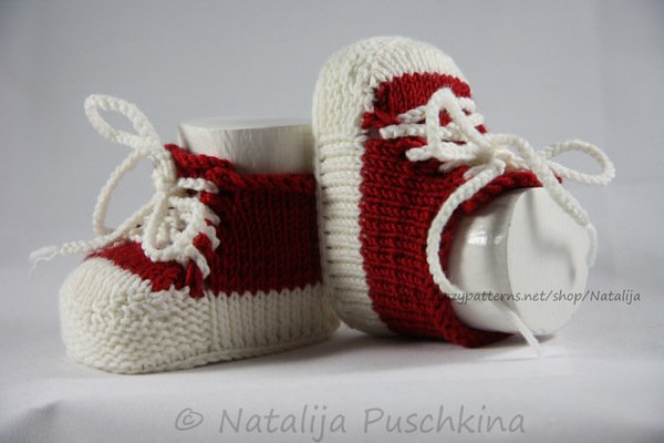 strickanleitung babyschuhe f r anf nger bei crazypatterns. Black Bedroom Furniture Sets. Home Design Ideas