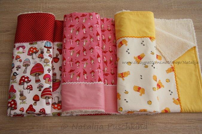 Babydecken anleitungen für 3 größen: babydecken häkeln & nähen