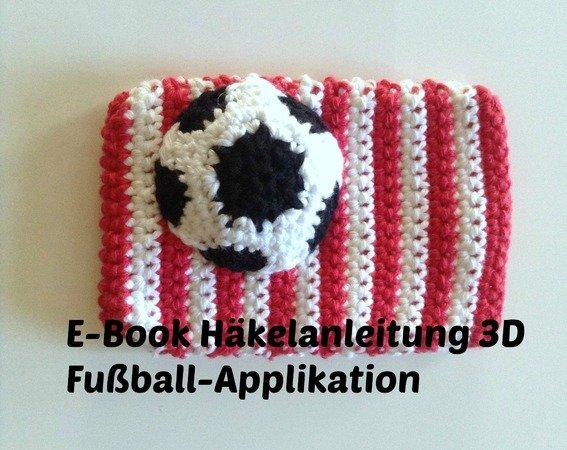 kostenlos Applikation Fußball häkeln // DIY