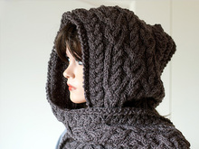 "Hooded scarf ""Ingrid"""