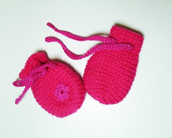 Babyhandschuhe / Babyfäustlinge selber häkeln