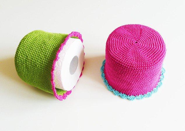 WC-Papier-Hut häkeln // Toilettenpapier-Hut
