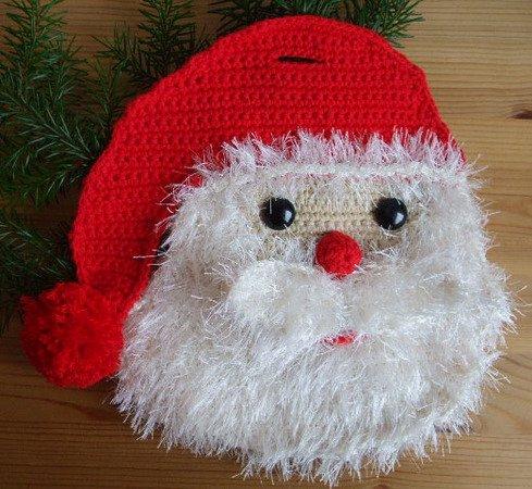 h kelanleitung f r einen topflappen flauschiger weihnachtsmann als weihnachtsdeko h keln. Black Bedroom Furniture Sets. Home Design Ideas
