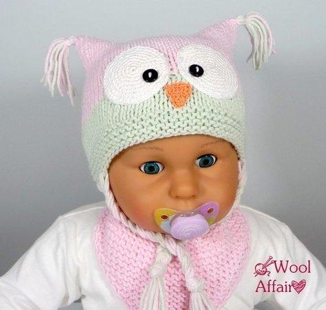 Baby Mütze Eulen Motiv Stricken Häkeln
