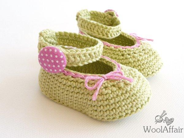 Baby-Schuhe jetzt häkeln - Baby-Ballerinas