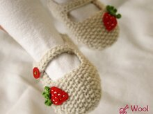 Strickanleitung -Erdbeer-Ballerinas E-Book DIY - No.15