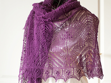 "Rectangle lace shawl ""Muscari"""