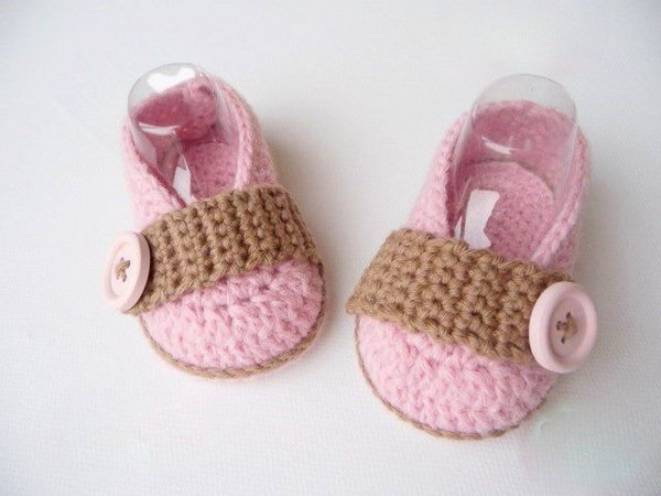Baby-Slipper häkeln // Baby-Schuhe häkeln