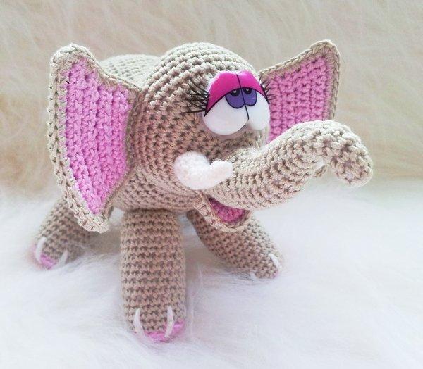amigurumi elefant selber h keln diy elefant. Black Bedroom Furniture Sets. Home Design Ideas