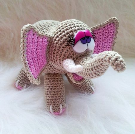 amigurumi elefant selber h keln diy elefant. Black Bedroom Furniture Sets. Home Design Ideas