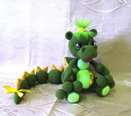 Blummy the Dragon - Amigurumi PDF CROCHET PATTERN | Crochet toys ... | 450x507