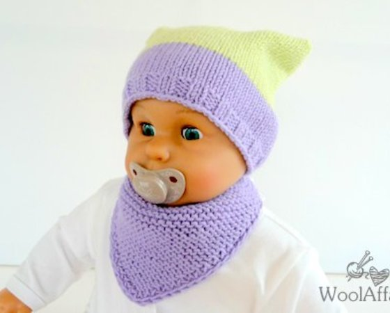 Baby Tuch Strickenbaby Dreieckstuch Stricken