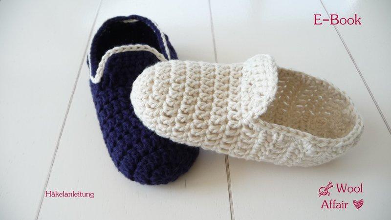 Häkelanleitung Hausschuhe Häkeln Loafers Für Kids No64