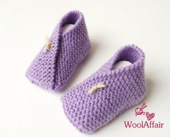 Babyschuhe stricken / Origami-Design stricken