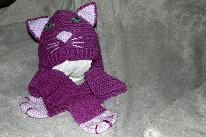 Katzen Mütze Katzen Schal Selber Häkeln
