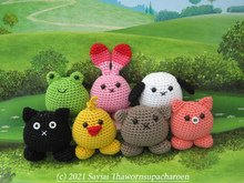 Puffy Pals, Amigurumi Crochet Pattern