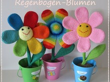 Rainbow Flowers Crochet Pattern