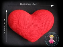 Heart Cushion / Pillow Crochet Pattern