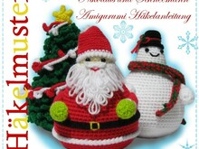 Santa Claus, Snowman and Christmas Tree, Amigurumi crochet patterns