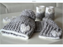 "Baby Winter Set ""Little Heart"" Häkelanleitung"