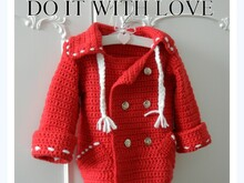 Crochet PATTERN - Children Nautical Coat
