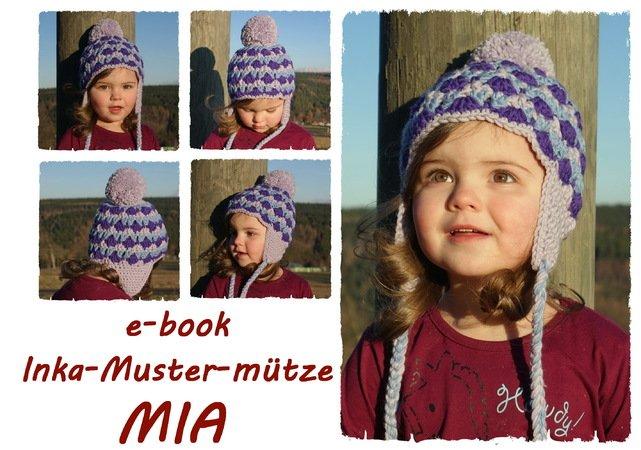 Mütze häkeln für Damen und Kinder- Inka-Style