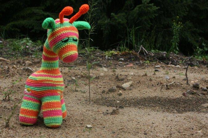 Amigurumi Giraffen Lesezeichen häkeln | Supergurumi | 450x675