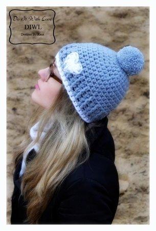 Damen-Mütze häkeln-//-Bommel-Mütze häkeln