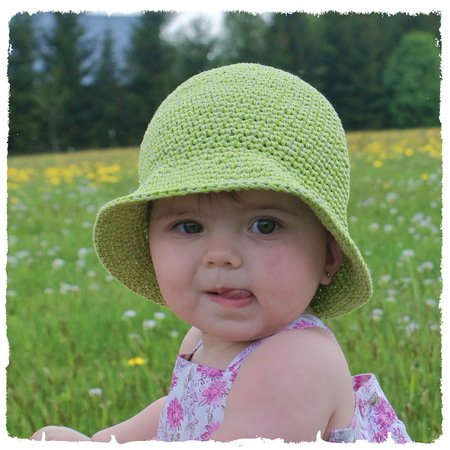 Sommer-Hut selber häkeln - DIY-Kinder-Hut ☆
