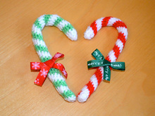 Crochet candy cane - Christmas classic