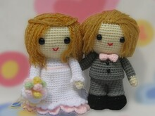 Bride and Groom, Amigurumi Crochet Pattern