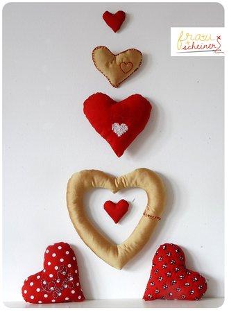 Herz stricken++nähen--mehrere Größen + Muster