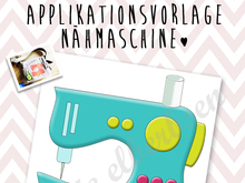 Applikationsvorlage - Nähmaschine