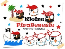 Stickserie Pirateneule 10x10 bis 16x26