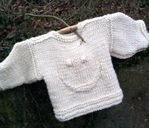 Strickmuster Smiley-Pullover Damen + Kinder