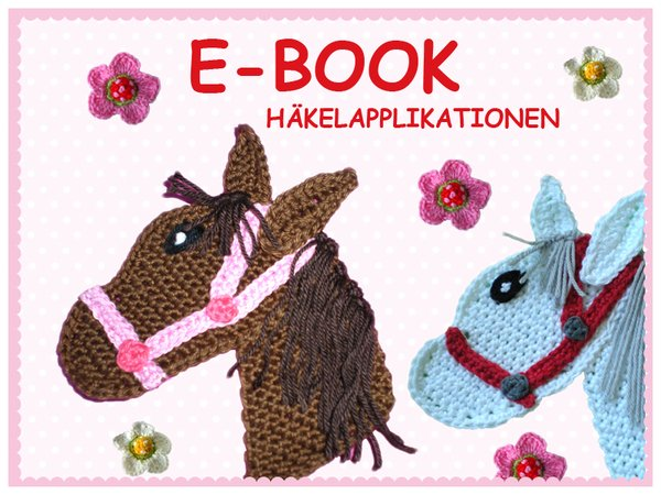Pferdekopf Häkeln Applikation 3d Blümchen