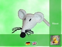 Mausi, the little white mouse - PDF crochet pattern