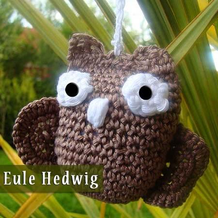 Amigurumi Häkelanleitung Eule Hedwig