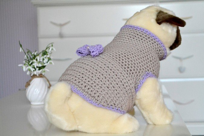 Hunde-Pullover häkeln // Pulli für Hunde DIY
