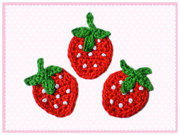 Kostenlose Erdbeeren Applikation Häkeln Pdf