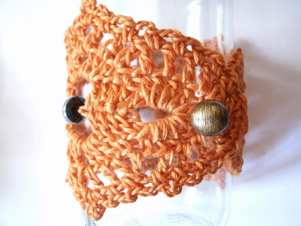 Armband mit Perlen, gehäkelter Schmuck, Häkelanleitung