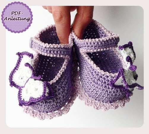 Baby-Schuhe + Stirnband häkeln / DIY Baby-Set