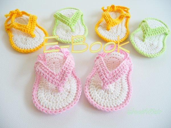 Häkelanleitung für Baby- Zehensteg - Sandalen - No.5