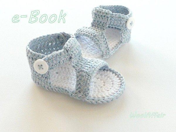 Baby-Schuhe // Baby-Sandalen jetzt häkeln