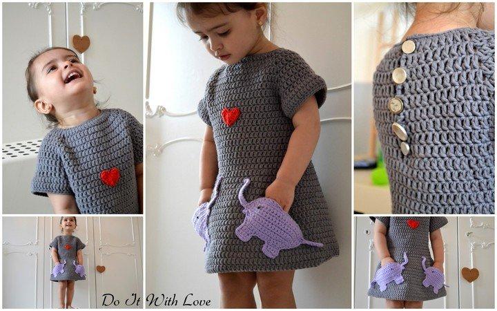 Kleid Für Mädchen Selber Häkeln Diy Kleid