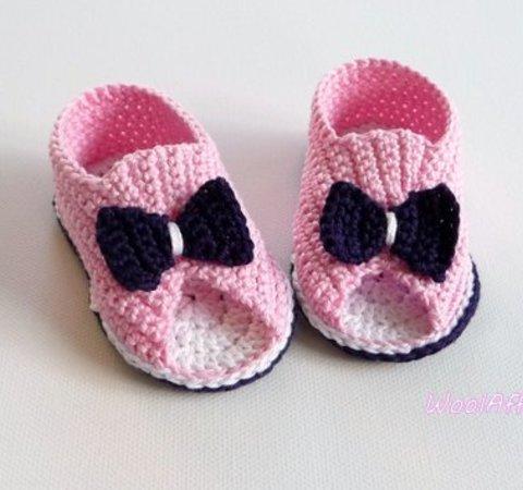 Babysandalen Babyschuhe Häkeln Anleitung